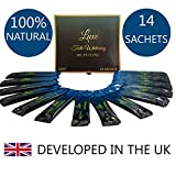Luxe Teeth Whitening® Mint Coconut Oil Pulling (14 Sachets - 2 Weeks Supply) Home Teeth whitening | Oil Pulling for Teeth | Activated Charcoal Teeth whitening | mouthwash | Natural Teeth whitening