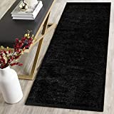 #5: AH Furnishing Polyester Soft Indoor Modern Shag Area Rug Carpet with Feather Touch for Dining Room, Home Bedroom, 22X48 Inch (Maroon Colour)
