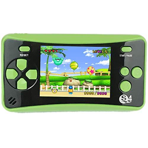 QINGSHE QS-4 Console di Gioco Portatile per Bambini, Arcade da Sala di Divertimento Retro FC Video Player, 2,5\'\' LCD a Colori 182 Giochi Classici Incorporati, Regalo di Compleanno per Bambini- Verde