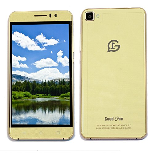 Goodone Z7 OTG 4th Genration 4G Network Mobile 5 Inch IPS QHD Display Android 5.1 Lollipop 2 GB RAM and 16 GB Internal Memory Dual SIM Dual Camera with Flash Light Smartphone (Gold)