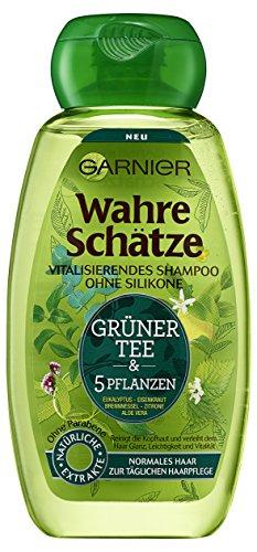 Garnier Wahre Schätze Shampoo Grüner Tee, 6er Pack (6 x 250 ml)