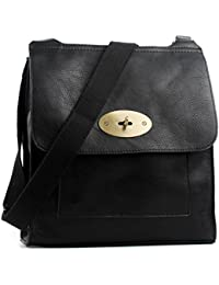 bf2d2571f5 Aossta Faux Leather Large Medium Twist Lock Cross Body Messenger Bag  Turnlock Shoulder Bag