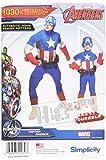 Simplicity Creative patrones us1030a niños y hombres del Capitán América disfraz, tamaño a (3–8/S-XL)
