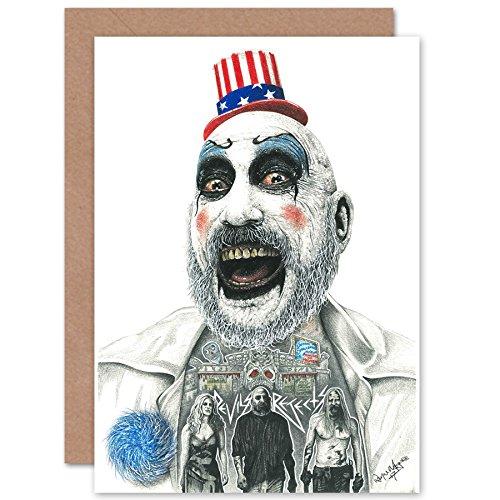 Wee Blue Coo LTD Wayne Maguire Tattooed Captain Spaulding Inked Ikon Greetings Card