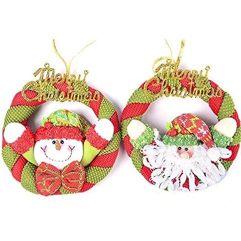Natale Natale Decorazione per albero di Natale di appendere le ghirlande Natale appeso alla parete decorazione 20cm porte le entità degli anziani