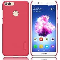Huawei P Smart Hülle, TopACE Bumper Cover PC Plastik Harte Case Ultra Slim Matt Handyhülle Schutzhülle + Displayschutzfolie Für Huawei 51092CTD P-smart Smartphone (Rot)