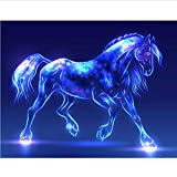 WENYAZ Puzzle 1000 Pezzi per Adulti Cavallo Fluorescente per Il Gioco Giocattolo Casa Grande Regalo Educativo
