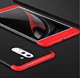 eCosmos Double Dip Full Protection Back Cover Case for Honor 6X / Huawei Honor 6X- Red / Black