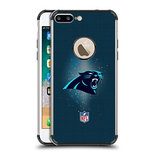 Head Case Designs Offizielle NFL LED 2017/18 Carolina Panthers Schwarz Schocksicheres Schutzblech Hülle für iPhone 7 Plus/iPhone 8 Plus Carolina 8