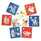 Baker Ross Stencil Ispirati alla Natività (Confezione da 6) per creazioni Fai da Te e Decorazioni Natalizie per Bambini