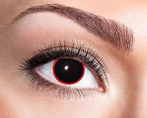 Goldschmidt Kontaktlinsen Jahreslinsen mit Sehstärke Dioptrien Halloween Qualitätsprodukt (Hellraiser, -3,75)