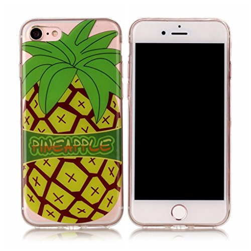"Coque iPhone 7 , IJIA Ultra-mince Transparent Poney Mignon Crème Glacée TPU Doux Silicone Bumper Case Cover Shell Skin Housse Etui pour Apple iPhone 7 4.7"" XS53"