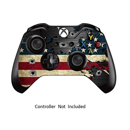 Skins für Xbox One Controller Aufkleber für benutzerdefinierte Xbox 1 Fernbedienung Skins - Modded X1 Zubehör Aufkleber - Battle Torn Stripes [ Controller Ist Nicht Enthalten ] By Gamexcel &Reg;