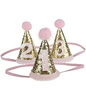 ARAUS Accessorri Di Cappelli Da Bimbi Per Compleanno di 0-3 Anni 3 Pezzi