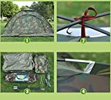 #4: Goank Miletry Tent Rainproof Waterproof Sunproof Picnic Hiking 6 Person Camouflage Tent with Carry Bag