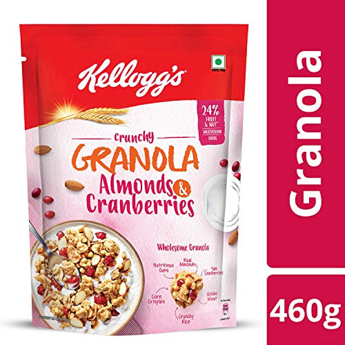 4. Kellogg's Crunchy Granola Almonds and Cranberries