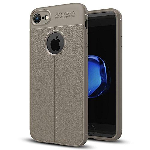"""Apple iPhone 8 (4.7"""") Hülle, MSVII® Anti-Shock Weich TPU Silikon Hülle Schutzhülle Case Und Displayschutzfolie für Apple iPhone 8 (4.7"""") - Grau JY90104 Grau"""