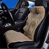 DIELIAN Shiatsu-Massagesitzauflage- einzigartige 6 Punkte Luftdruck-Technologie - komfortables Fahren für lange Strecken - Entspannung nach der Arbeit , Beige