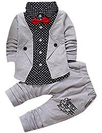 Conjuntos de ropa, Dragon868 Adorable bebé niño Gentry fiesta formal bautizo boda esmoquin trajes de arco