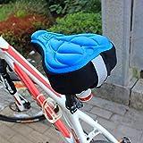 SYN Coprisedile per Bicicletta, in Spugna 3D, Resistente all'Acqua e alla Polvere, Antiscivolo, con Memory Foam, per Mountain Bike, Ciclismo, Bici da cancelleria, Blue