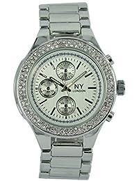La plata moderna de las damas de Londres a la industria de la moda de Nueva York con el reloj de pulsera analógico de…