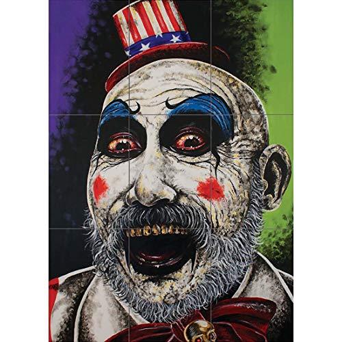 aptain Spalding House 1000 Corpses Wand Kunst Multi Panel Poster drucken 35x50 Zoll ()