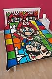 Nintendo Bettwäscheset retro, beidseitig bedruckt, mehrfarbig, für Doppelbetten (britische Größe)