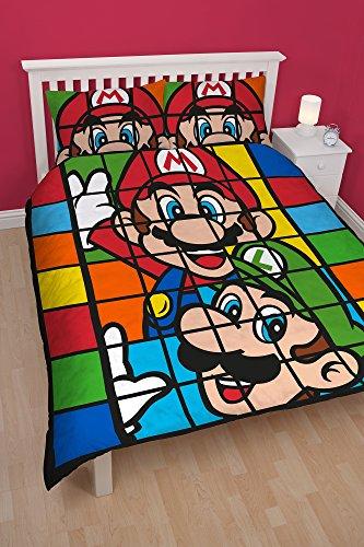 Nintendo Bettwäscheset retro, beidseitig bedruckt, mehrfarbig, für Doppelbetten (britische Größe) -