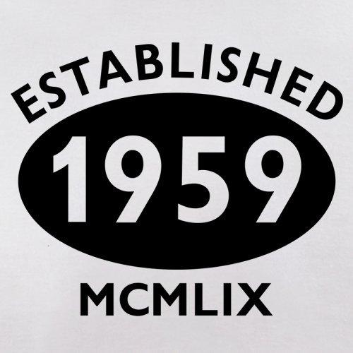 Gegründet 1959 Römische Ziffern - 58 Geburtstag - Herren T-Shirt - 13 Farben Weiß