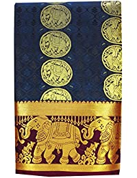 Saravanabava Silks - Kanchipuram Silks Sarees Elephant Border (Art Silk Empossed Butta SRBS01212)
