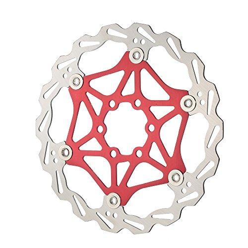 Lixada Disque de Frein Bicycle MTB Float Plaque de Rotor à frein à Flotteur 6 Boulons 160mm