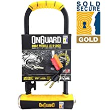 Magnum ONGUARD Pitbull LS Anti Theft High Security Steel Shackle Bicycle Bike U-Lock LK8002