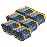 Abcs Printing 16XL Druckerpatronen Epson 16 Patronen 16 XL Kompatibel mit Epson Workforce WF-2630 2660 2760 WF-2510 WF-2750 WF-2540 WF-2530 WF-2010 WF-2650,12 Schwarz, 6 Cyan,6 Magenta, 6 Gelb