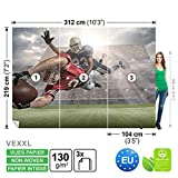 FORWALL Vlies Fototapete Tapete Vliestapete Dekoshop Amerikanisches Fußball ADW1203VEXXL (312cm x 219cm) Photo Wallpaper Mural