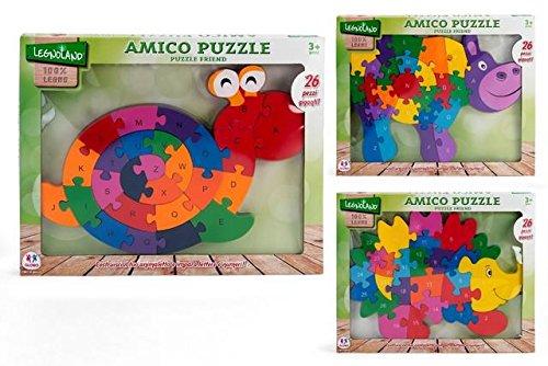 Globo Juguetes globo-3688840x 30cm 3surtidos Legnoland Puzzle de madera con números o letras