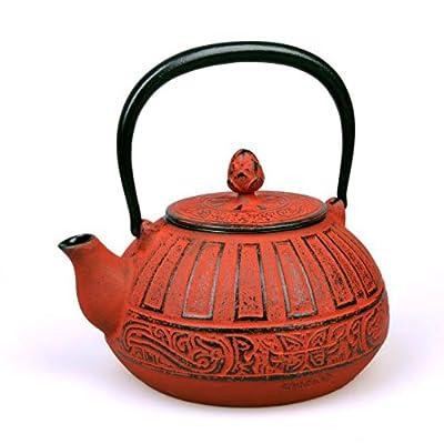Théière en fonte Chisaka 1.5L rouge carmin - MAOCI