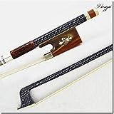 Top Model Archet pour violon en fibre de carbone tressée Argenté Neuf. 4/4taille complète naturel Mongolie Cheval Cheveux, Premier Instrument à cordes partie