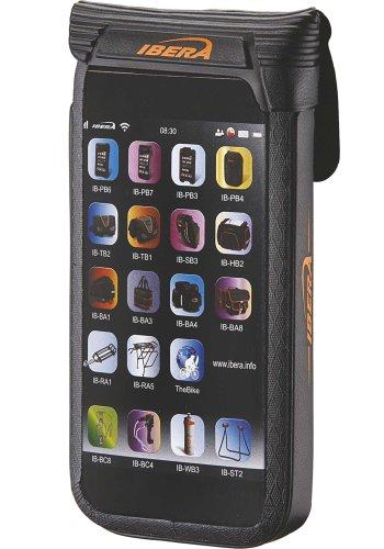 Ibera Wasserdichtes Bike Case IB-PB11 Schwarz mit Lenkerhalterung für Apple iPhone 5, iPhone 5c, iPhone 5s, Huawei Ascend W1, Motorola RAZR i, Samsung Galaxy S4 mini, Wave 2 S8530 , Sony Xperia J