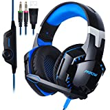 Mpow PS4 Gaming Headset, Wired Over-Ear Kopfhörer PC Gaming Headset für Playstation 4 PS3 New Xbox One PC MAC Laptop iPad iPod.(Mit Noise Cancelling Mikrofon und LED Licht)