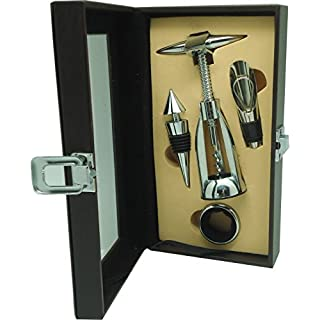 Anitex zj9202Wine Accessories Set, Silver