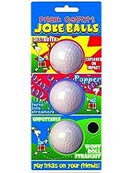 Longridge BLJO3B - Set de pelotas de broma de golf, 3 piezas