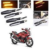 #10: AutoStark Motorcycle AMBER LED Turn Signal Indicators Light Lamp Regal Raptor 4Pcs Hero Karizma ZMR