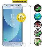 Smartphone-Equipment [2er Pack] Panzerglas für Samsung Galaxy J3 2017 Echt-Hartglas 9H, Glasfolie Schutzfolie Glas Folie Panzerfolie Display Schutz