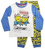 MINIONS Schlafanzug Kollektion 2016 Pyjama 92 98 104 110 116 122 128 Jungen Winter Lang Nachtwäsche Blau-Gelb (116, Blau)