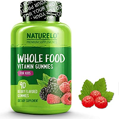 NATURELO Whole Food Vitamin Gummies for Kids - Best Chewable Gummy Multivitamin for Children - Organic Great Tasting Berry Flavor - Non-GMO - All Natural Vitamins & Minerals - 90 Gummies by NATURELO