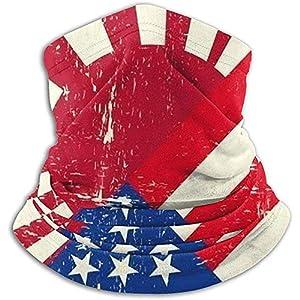 Merle House Mixed USA und Japan Krieg Grunge Flag Neck Gaiter, Kopfbedeckungen, Face Sun Mask, Magic Scarf, Bandana, Sturmhaube, Stirnband