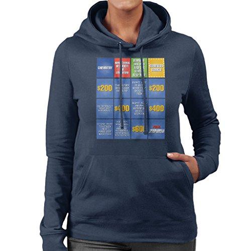 Jeopardy Spielen (Billy Madison Jeopardy Board Quotes Women's Hooded Sweatshirt)