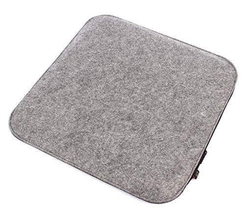 Luxflair 6er Set Filz Sitzkissen in graumelier/dunkelgrau zum Wenden, waschbar, weich gepolstert inkl. Reissverschluss. Sitzpolster quadratisch ca. 35x35cm