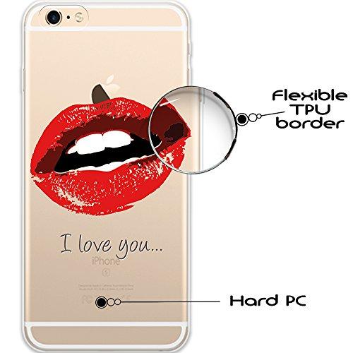 iPhone 6 Plus | 6S Plus Hülle, WoowCase® [ Hybrid ] Handyhülle PC + Silikon für [ iPhone 6 Plus | 6S Plus ] Hund Fußabdruck Handytasche Handy Cover Case Schutzhülle - Transparent Hybrid Hülle iPhone 6 Plus | 6S Plus D0037