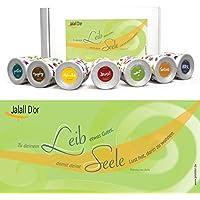 Geschenkset KÖRPER & GEIST (Avila) von Jalall D'or mit 7 Dosen | Geschenkbox mit Premium-Trockenfrüchten | Geburtstagsgeschenk Mann & Frau | GESCHENK Frauen & Männer | Muttertag